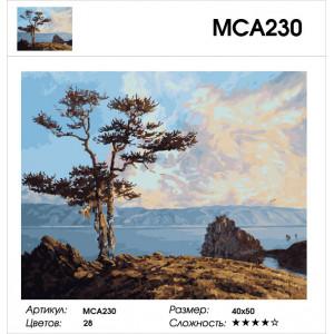 """МСА230 Картина по номерам """"Якутия"""", 40х50 см"""