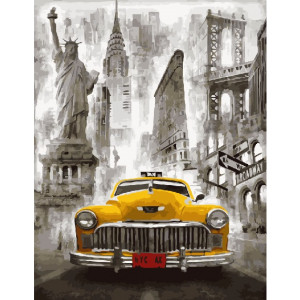 Картина по номерам 40х50 GX 23370 Американское такси 40x50 см