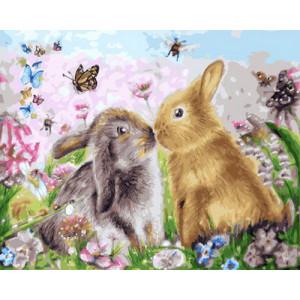 Картина по номерам 40х50 GX 23659 Кролики 40x50 см