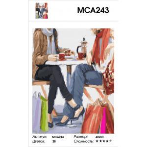 """МСА243 Картина по номерам """"После шопинга"""" 40х50 см"""