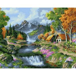 Картина по номерам 40х50 GX 24384 Горный водопад 40x50 см