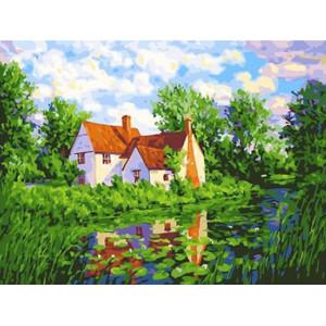 GX25135 Домик у пруда Картина по номерам 40х50 см