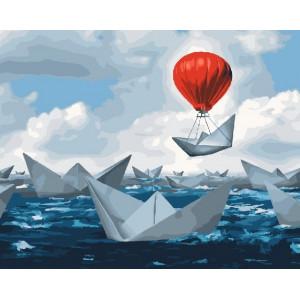 GX25153 Бумажные кораблики Картина по номерам 40х50 см