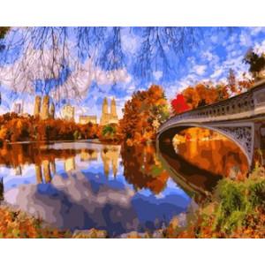 Картина по номерам 40х50 GX 25812 Осенний мост 40x50 см
