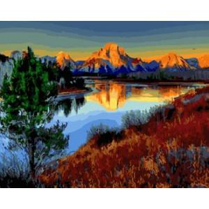 Картина по номерам 40х50 GX 25888 Закат на озере 40x50 см