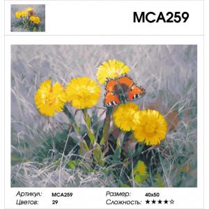 "МСА259 Картина по номерам ""Мать-и-мачеха"", 40х50 см"