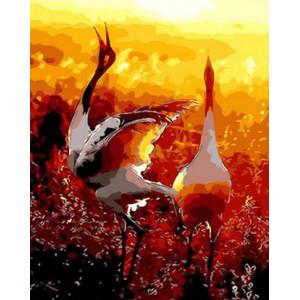 Картина по номерам 40х50 GX 26021 Журавли 40x50 см