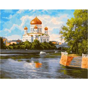 """GX27335 Картина по номерам """"Собор у реки"""", 40х50 см"""
