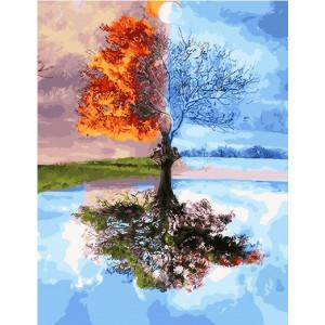 """GX27746 Картина по номерам """"Четыре времени года"""" 40х50 см"""