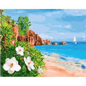"GX27767 Картина по номерам ""Тропический остров"" 40х50 см"
