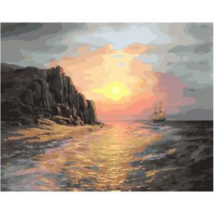"""GX27887 Картина по номерам """"В море на закате"""", 40х50 см"""