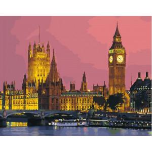 "GX27906 Картина по номерам ""Ночной Лондон"", 40х50 см"