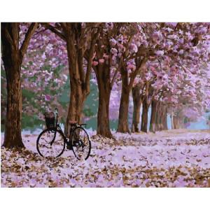 """GX28001 Картина по номерам """"Деревья в цвету"""", 40х50 см"""