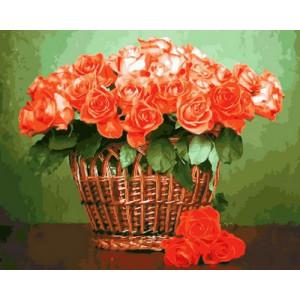 Картина по номерам 40х50 GX 28998 Розы в корзинке 40x50 см