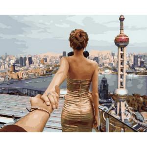 Картина по номерам 40х50 GX 29029 Следуй за мной. Шанхай 40x50 см
