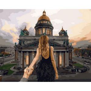 Картина по номерам GX 29037 Следуй за мной. Санкт Петербург 40x50 см