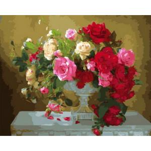 Картина по номерам  GX29054 Букет на белом столе 40x50 см