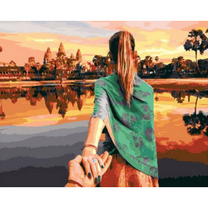 Картина по номерам GX29063 Следуй за мной. Камбоджа 40x50 см