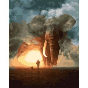 Картина по номерам GX29069 Юноша и слон 40x50 см