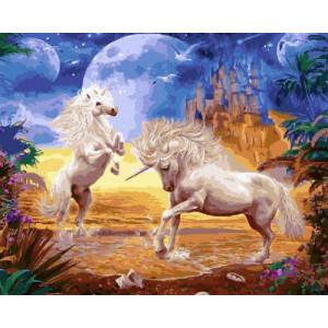 Картина по номерам GX29077 Единороги 40x50 см
