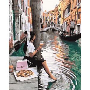 Картина по номерам GX29078 Завтрак в Венеции 40x50 см