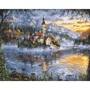 Картина по номерам GX29179 Замок на острове 40x50 см
