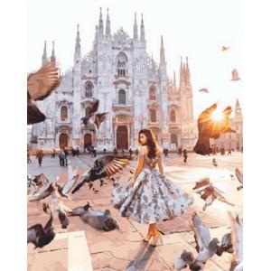 Картина по номерам GX29201 Площадь с голубями 40x50 см
