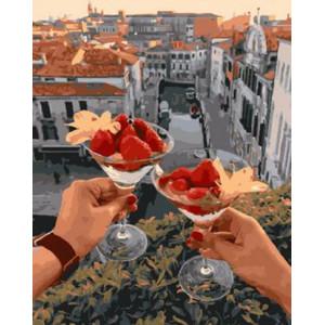Картина по номерам 40х50 GX 29243 Клубничный коктейль 40x50 см