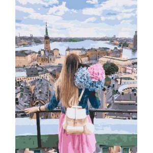 Картина по номерам 40х50 GX 29260 Вид на город 40x50 см