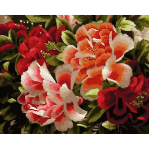 Картина по номерам 40х50 GX 29319 Цветы 40x50 см