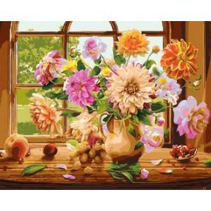 Картина по номерам 40х50 GX 29333 Пионы и фрукты 40x50 см