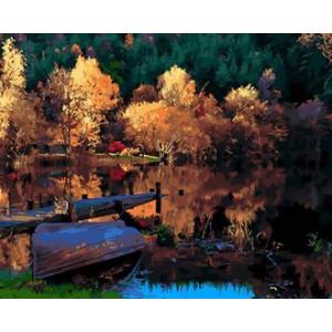 Картина по номерам 40х50 GX 29413 Осенний причал 40x50 см