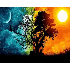 Картина по номерам 40х50 GX 29446 День ночь 40x50 см