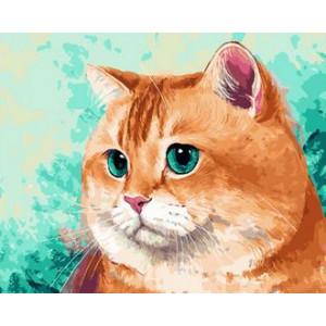 Картина по номерам 40х50 GX 29469 Рыжий кот 40x50 см