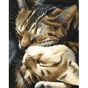 Картина по номерам 40х50 GX 29747 Кошачьи нежности 40x50 см