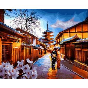 Картина по номерам 40х50 GX 29925 Японский вечер 40x50 см