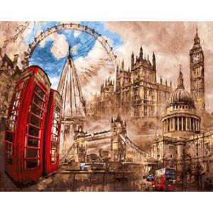 Картина по номерам 40х50 GX 29946 Лондонский мотив 40x50 см