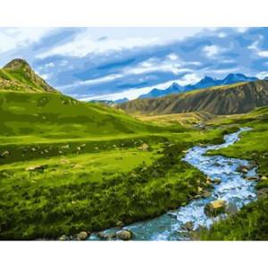 Картина по номерам 40х50 GX 30094 Холмы и горы 40x50 см