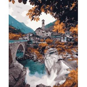 Картина по номерам 40х50 GX 30097 Бурный поток 40x50 см