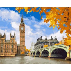 GX30285 Картина по номерам Осенний Лондон 40x50 см