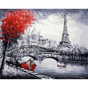 GX30286 Картина по номерам Набережная в Париже 40x50 см