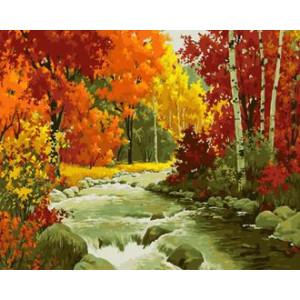 Картина по номерам 40х50 GX 30289 Осенний водопад 40x50 см