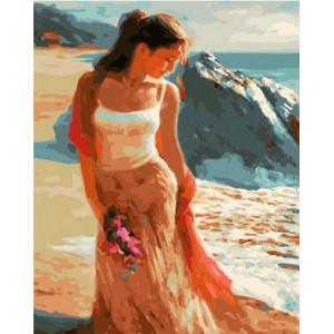 Картина по номерам 40х50 GX 30296 Прогулка по пляжу 40x50 см