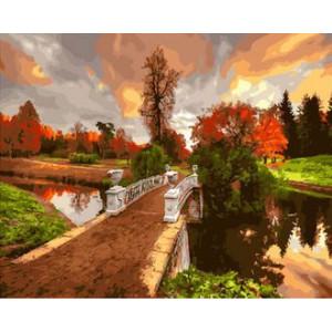 Картина по номерам 40х50 GX 30298 Мостик через реку 40x50 см