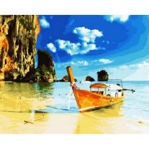 Картина по номерам 40х50 GX 30305 Лодка у берега 40x50 см