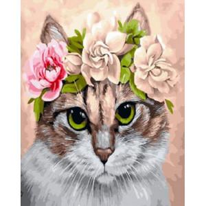 GX30311 Картина по номерам Красавица кошка 40x50 см