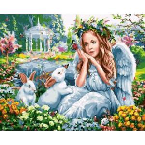 Картина по номерам GX30313 Ангел в саду 40x50 см