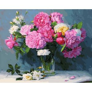 Картина по номерам 40х50 GX 30338 Разноцветные пионы 40x50 см