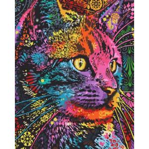 Картина по номерам 40х50 GX 30354 Цветной кот 40x50 см