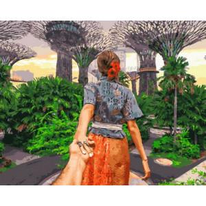 GX30355 Картина по номерам Следуй за мной. Сингапур 40x50 см